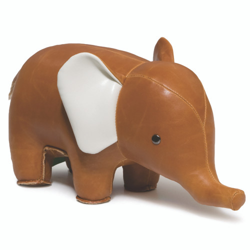 Classic Elephant Paper Weight - Tan