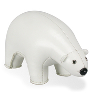 Classic Polar Bear Paper Weight - White