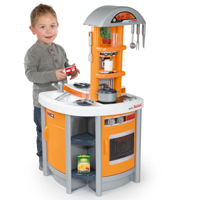 SMOBY CHILDRENS ORANGE TEFAL COOKER STUDIO PLAY KITCHEN KIDS TOY ...