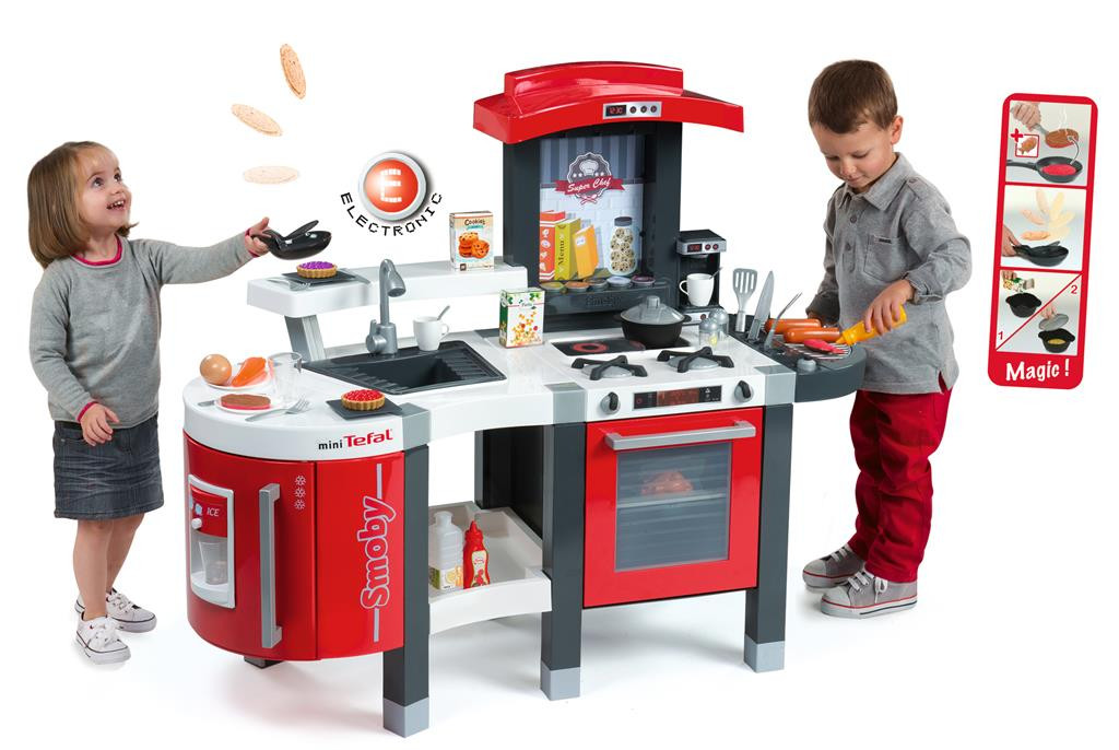smoby mini tefal super chef kids childrens roleplay toy cuisine kitchen fast del ebay. Black Bedroom Furniture Sets. Home Design Ideas