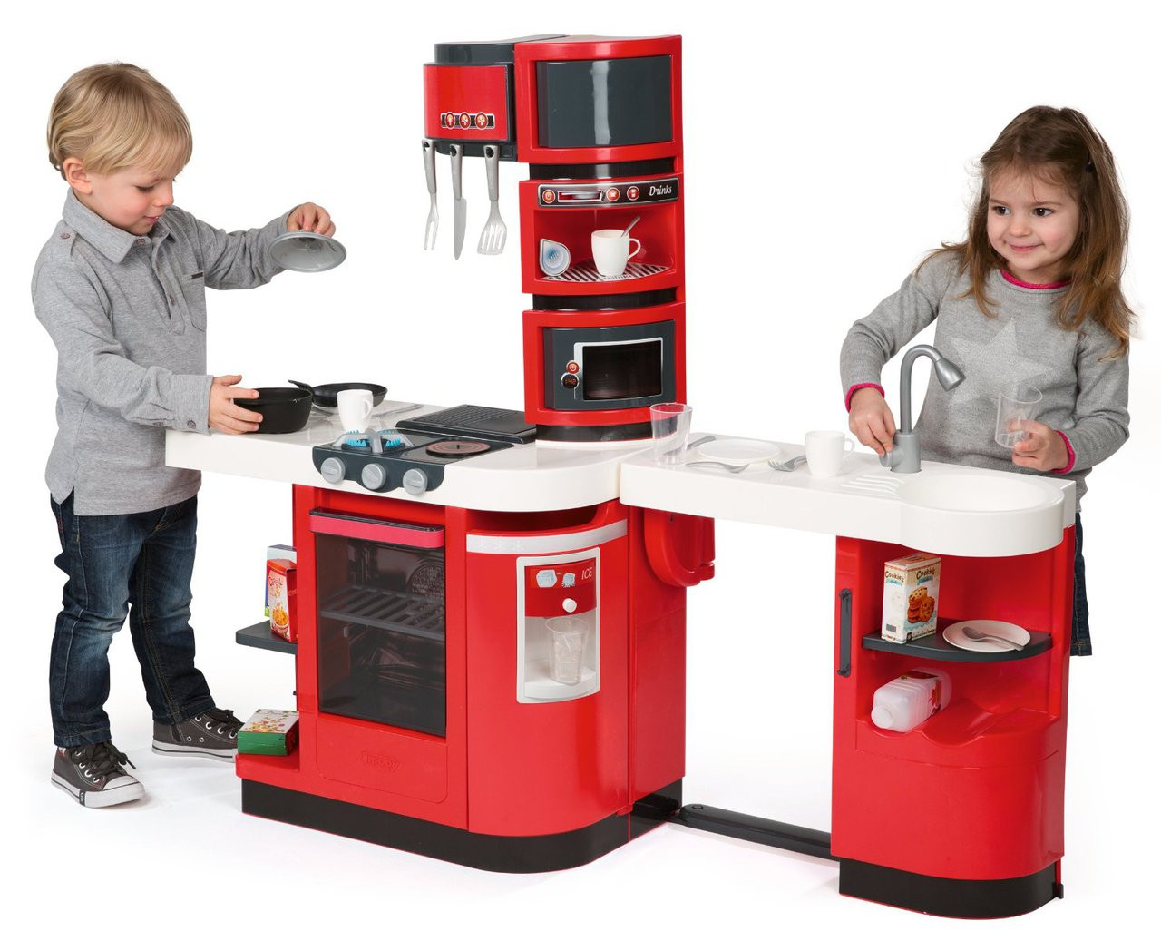 Smoby Cuisine Cook Master Kids Kitchen Play Set (311100) -> Kuchnia Little Tikes Czerwona