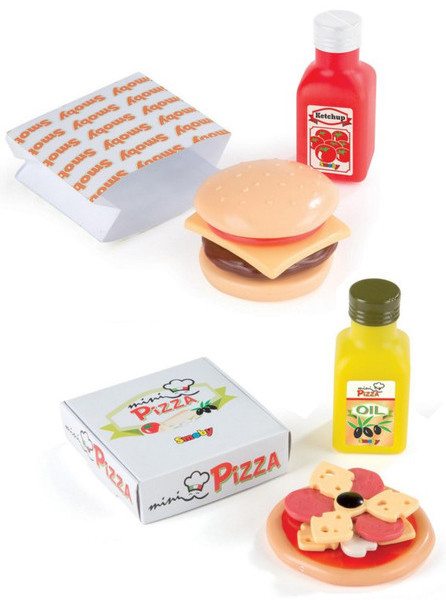 Toy Food Cheeseburger and Pizza (2x024004)
