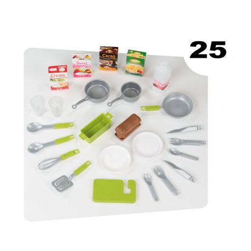 fast delivery smoby childrens cuisine loft roleplay toy kitchen kids cooker grey. Black Bedroom Furniture Sets. Home Design Ideas