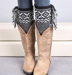 The Fringe Boot Cuff, Black