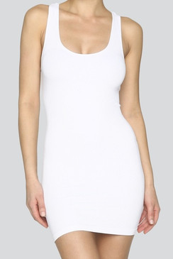 The Tank Dress, white