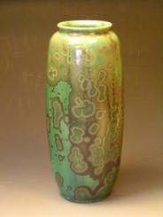 Algae and Moss Crystalline Glazed Vase