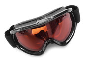Orange tint ski goggles