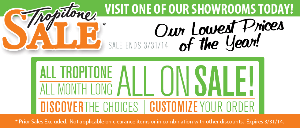 Tropitone Patio Furniture on Sale - Showroom Only