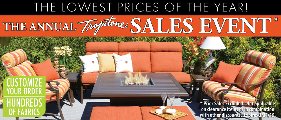 Tropitone Sale - In store Only