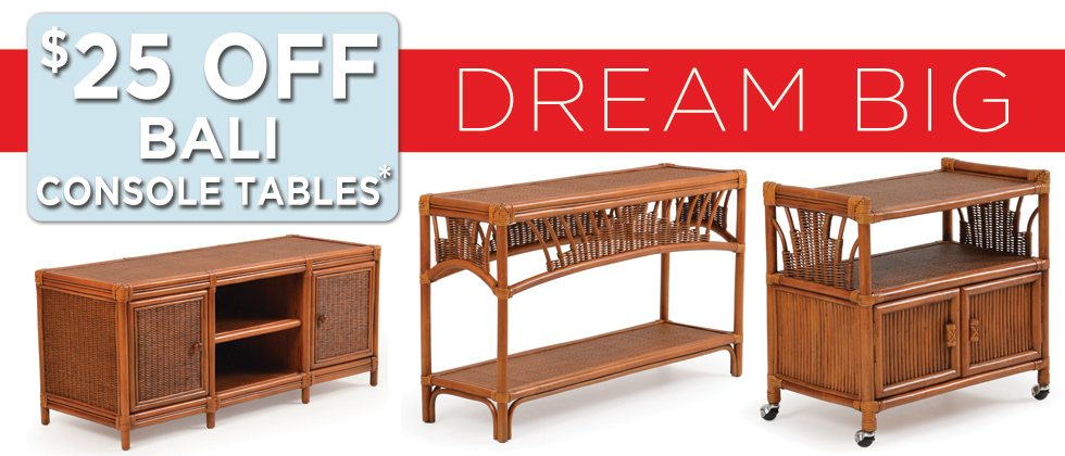Bali Console Tables on Sale