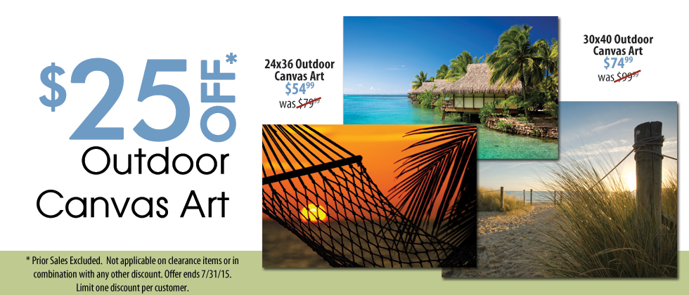 Outdoor Canvas Art On Sale