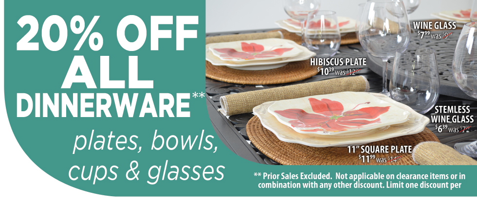 Tropical Dinnerware Sale