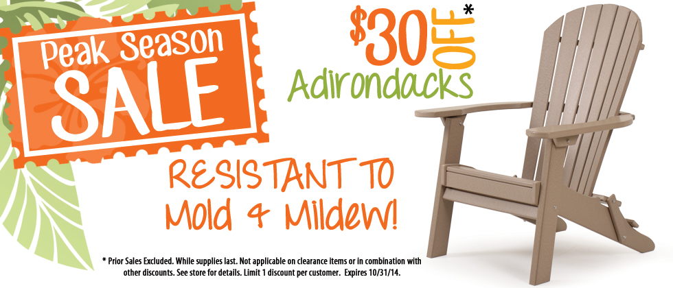 Recycled Plastic Adirondack Chairs on Sale