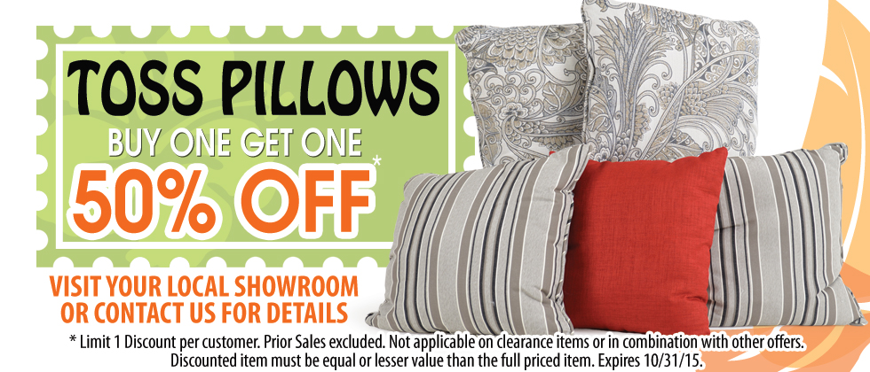 BOGO Special on Throw Pillows