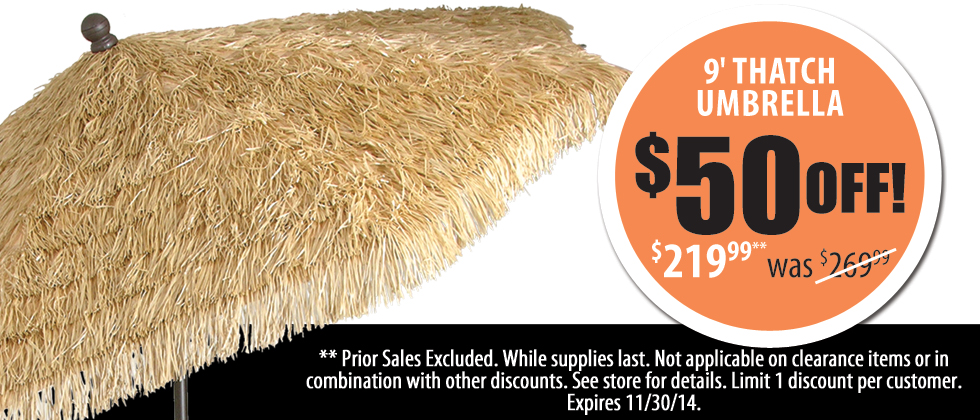 9' Thatch Umbrellas On Sale