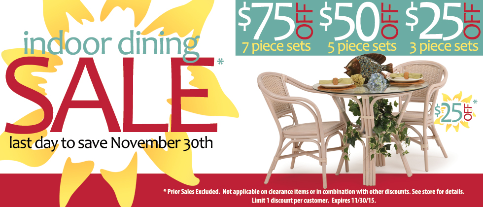 All Indoor Dining and Bar Sets On Sale