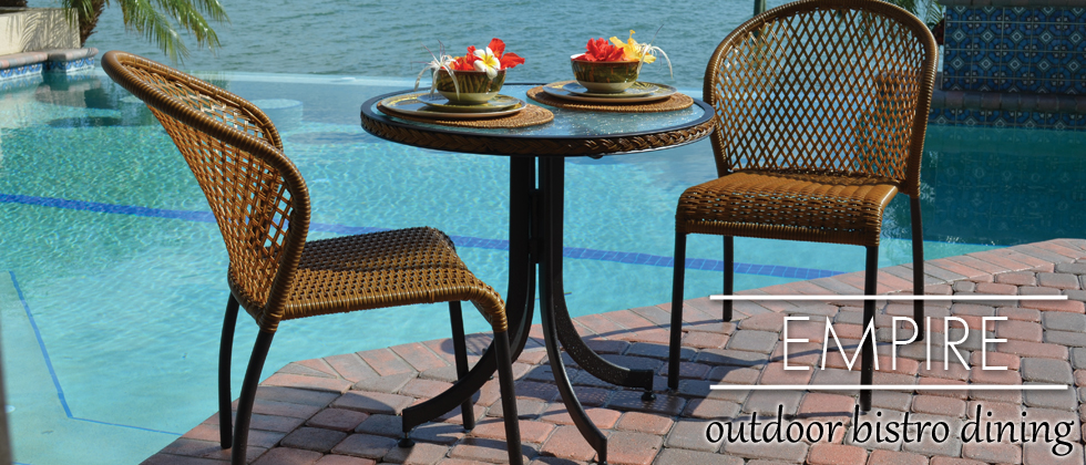 Empire Outdoor Wicker Bistro