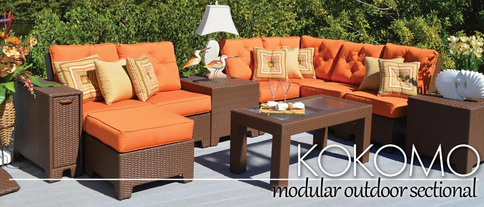 Kokomo Outdoor Wicker Sectional