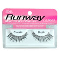 Catch these lashes on fashion show runways worn by high fashion models to create and compliment dramatic and beautiful designer looks. Preferred by makeup artists and professionals who style these shows.      Extreme length and defined separation     Creates and compliments dramatic and beautiful designer looks     Especially great for large, round or almond-shaped eyes