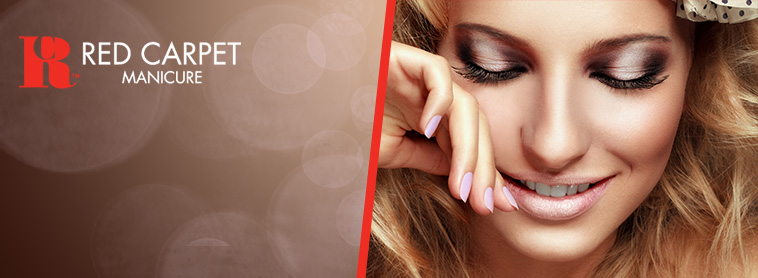Red Carpet Manicure at home gel nails
