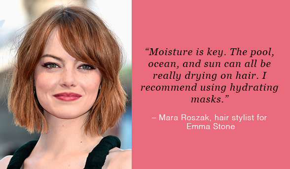 Emma Stone Moroccan Oil Intense Hydrating Mask | Beautyfeatures.ie