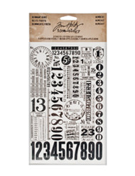 Tim Holtz Remnant Rubs - Numbers (TH93056)