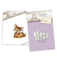 Magnolia Stamps - Stamp & Cutz - Aspen Holidays - Cozy Fox & Fence