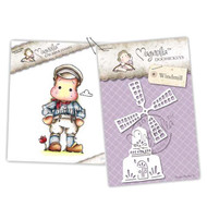 Magnolia Stamps - Stamp & Cutz - Capturing Moments - Netherlands Edwin & Windmill