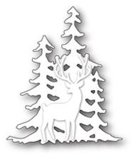 Memory Box - Craft Die - Deer in the Trees Silhouette