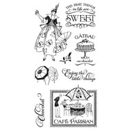 Graphic 45 - Café Parisian - Cling Stamp Set 1 (ICO365)