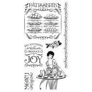 Graphic 45 - Café Parisian - Cling Stamp Set 2 (ICO366)