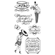 Graphic 45 - Café Parsian - Cling Stamp Set 3 (ICO367)