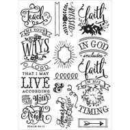 Prima Love, Faith, Scrap Planner Cling Stamps , Quotes