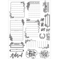 Prima Love, Faith, Scrap Planner Cling Stamps, Journaling