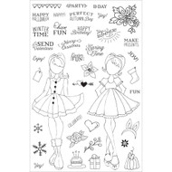 Prima Marketing Planner Clear Stamps, Holiday Bliss , By Julie Nutting - Pre Order