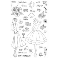 Prima Marketing Planner Clear Stamps, Calendar Musts, By Julie Nutting - Pre Order