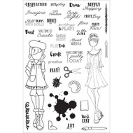 Prima Marketing Planner Clear Stamps, Craft Day, By Julie Nutting