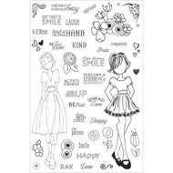 Prima Marketing Planner Clear Stamps,Make Kindness Happen, By Julie Nutting
