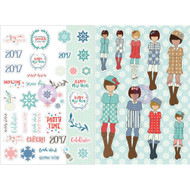 Prima Marketing Planner Monthly Stickers -January - By Julie Nutting