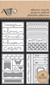 ArtC Adhesive Stencil Set - Imagine (25918)