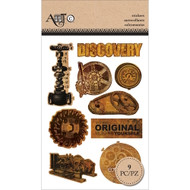 Art C Foam Stickers - Discovery & Gears 25132