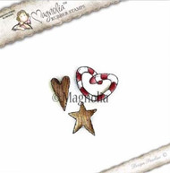 Magnolia Stamps - Aspen Holidays - Wooden Heart Star & Candycane Kit