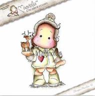 Magnolia Stamps - Aspen Holidays - Tilda With Little Rudolf