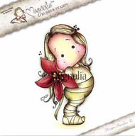 Magnolia Stamps - Aspen Holidays - Poinsettia Tilda