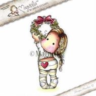 Magnolia Stamps - Aspen Holidays - Holly Wreath Tilda