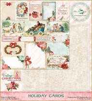 Blue Fern Studios - Vintage Christmas 2 - 12x12 Holiday Cards