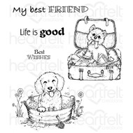 Heartfelt Creations - Pampered Pooch Cling Rubber Stamp Set (HCPC-3762)
