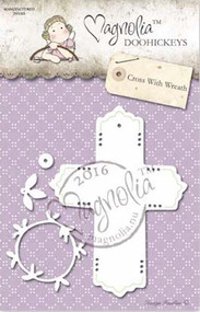 Magnolia Stamps DooHickey - Aspen Holidays - Cross With Wreath