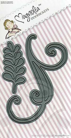 Magnolia Stamps DooHickey Wedding Collection - Leaf & Swirl