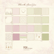 Pion Design - Where The Roses Grow - 12 X 12 Collection